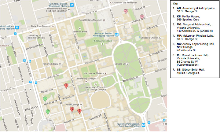 2015 summer school U of T map