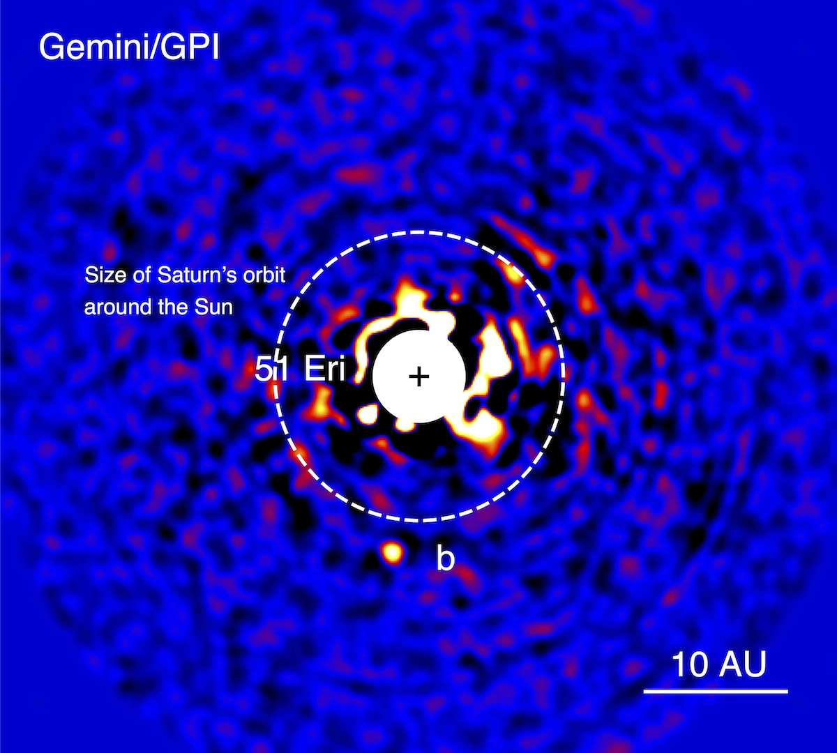 First Discovery for a New Planet Finder