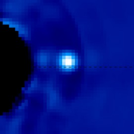 Watching an Exoplanet in Motion Around a Distant Star