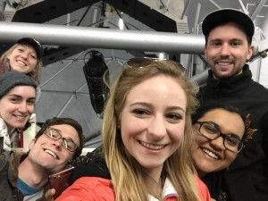 Group selfie and tscope