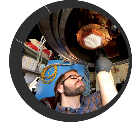 """U of T astronomy grad student Matt Young spends two months in Antarctica helping to install a <a href=""""http://www.dunlap.utoronto.ca/instrumentation/south-pole-telescope-3g/"""">new camera on the South Pole Telescope</a>, the camera he and Dunlap Fellow Dr. Tyler Natoli (pictured) helped build. <br /> <br /><span style=""""font-size:75%;""""></span>"""