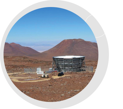 "Prof. Renée Hložek becomes chair of the Collaboration Council of the Simons Observatory to be built in the high Atacama in Northern Chile on the current site of the Atacama Cosmology Telescope (pictured). The Observatory will provide a powerful means to study the Cosmic Microwave Background and the early, inflationary Universe. <br />  <br /><span style=""font-size:75%;""><em>Credit: Atacama  Cosmology  Telescope</em></span>"