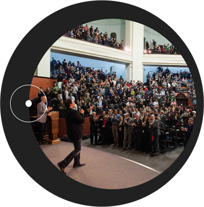 """The <a href=""""http://www.dunlap.utoronto.ca/about/dunlap-prize/"""">Dunlap Prize</a> is awarded to Neil deGrasse Tyson for sparking a love of astronomy in millions around the world. Tyson delivers the Dunlap Prize Lecture to a capacity crowd of 1500 in U of T's Convocation Hall."""