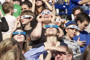 Some of the 5000+ spectators at the Transit of Venus at Varsity Stadium event on June 5th 2012.