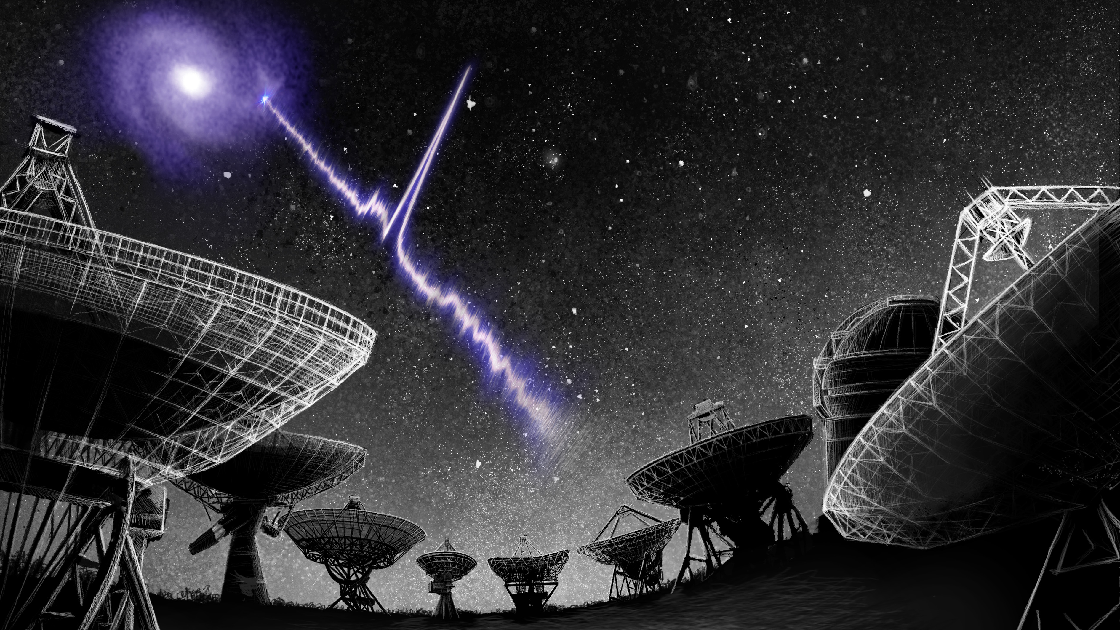 CHIME collaboration helps track down a fast radio burst to a nearby galaxy